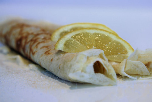 Pancakes with lemon and sugar 0786