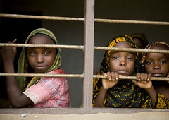 Veiled girls in a madrasah, Tanzania (Eric Lafforgue) Tags: africa school girls window kids children tanzania bars african madrassa fenetre barreaux swahili afrique eastafrica tansania tanzanya tanzanie lafforgue 0673 tansaania tanzanija       tanznija  tanzniy tananja