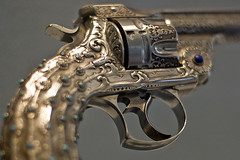 Smith & Wesson New Model No. 3 Navy revolver, about 1891 (Tiz_herself) Tags: ny newyork art guns museums themet pistols weapons array smithwesson revolvers