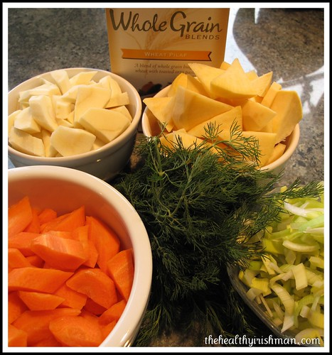 Root Veg Soup Mise en Place