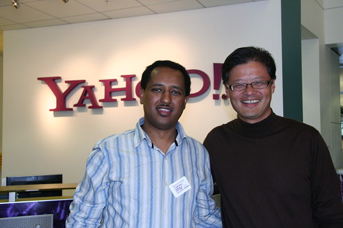 Abebe Gelaw with Jerry Yang