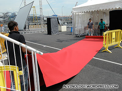 Laying the red carpet
