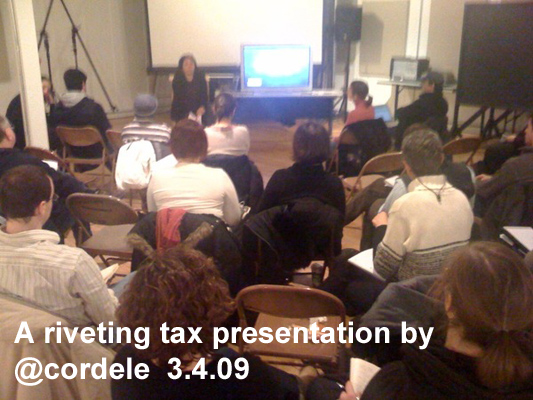 A riveting tax presentation by @cordele