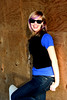 Cracking Up (BenHellekson) Tags: fashion rural pose model purple rustic goldenhour purplehair pfosilver