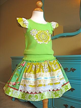 flower power evelyn skirt