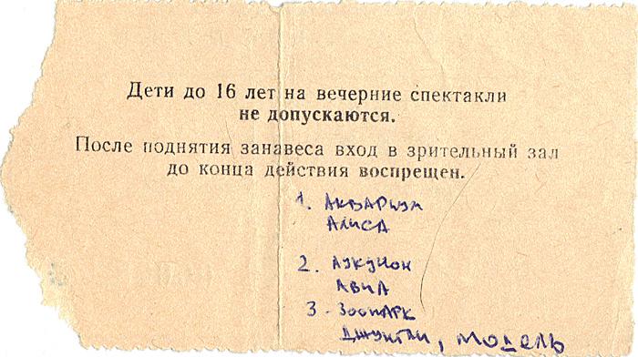 Концерт 1987