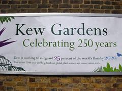 rótulo Kew Gardens