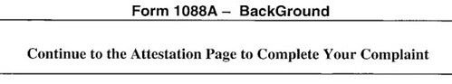 FCC Form 1088A Background