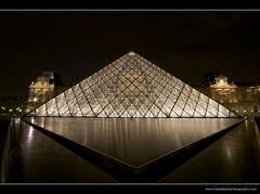 France - Pryamide du Louvre at night (Hasselbach Photography) Tags: paris france reflection water architecture night nikon pyramid landmark magicalmoments pyramidedulouvre sigma1020mmf456exdchsm nikond80 ryanhasselbach hasselbachphotography
