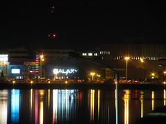 Night Lights (Billy Wilson Photography) Tags: colour reflection dark lights neon glow waterfront soo saultstemarie northernontario algoma billywilson longexposrue