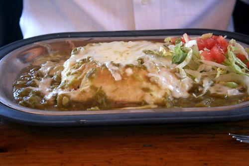 Stuffed Sopapilla - Green (fj40troutbum) Tags: chile newmexico santafe nm sopapilla greenchile tomasitas top20nm newmexicanfood stuffedsopapilla