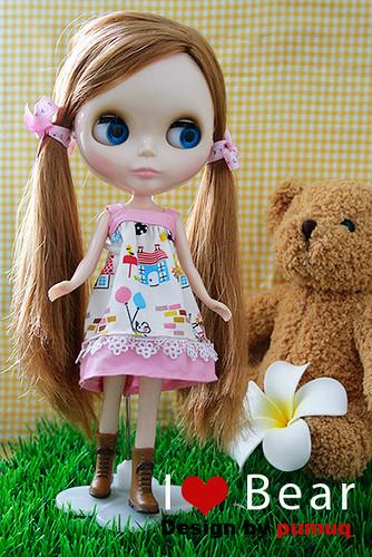 I ❤ BEAR DRESS by ipumuq.