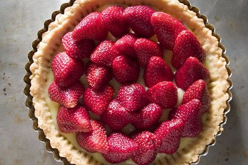Strawberry-lemon curd tart (I)