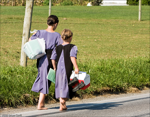 Unique Cars Amish Sisters Barefoot