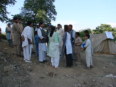 Amna Paracha and Ghazala Minallah in IDP camp in G 7/2