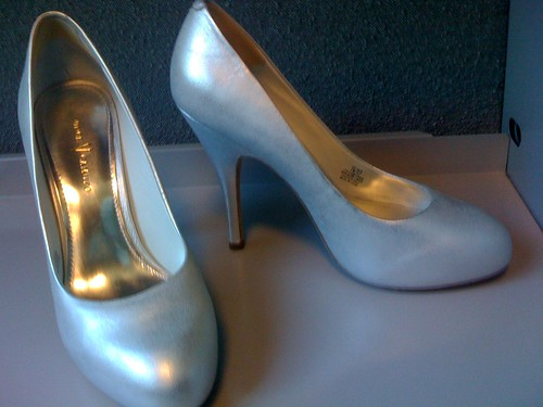 silver shoes heels