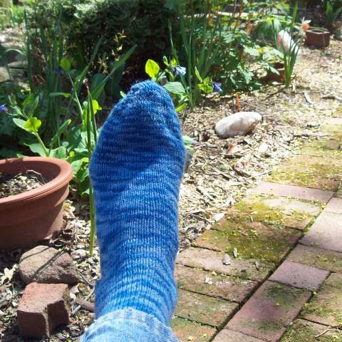 Blue Wool Socks