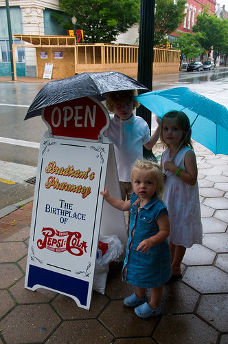 Kids at Bradham's Pharmacy, home of Pepsi