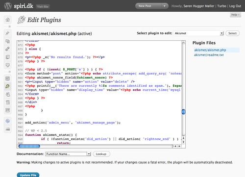 WordPress 2.8 Beta 1 editor (by Søren Hugger Møller)