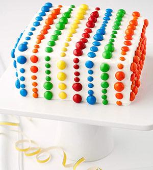 M&M studded cake