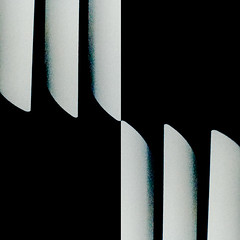 blinded (dotintime) Tags: white black lines vertical contrast blinds abstraction reversed upright blades slices spaces meganlane dotintime