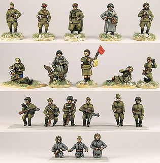 20mm Warmodelling Red Army Tank Crews, Drivers and Staff
