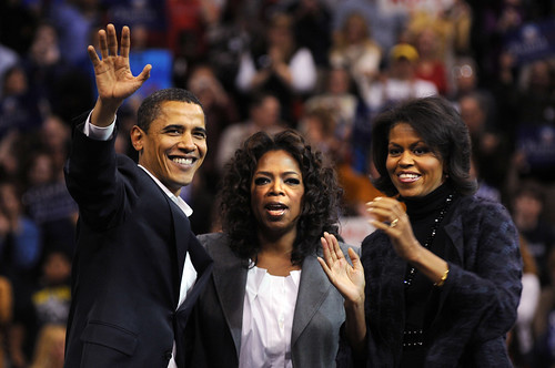 Barack Obama, Oprah Winfrey and Michelle Obama photo