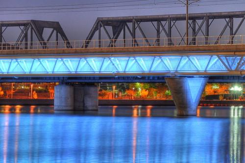 Light Rail Light on Tempe Town Lake