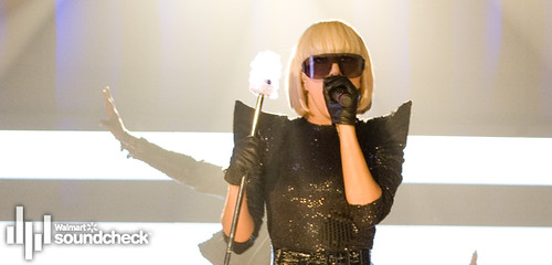 Lady GaGa on Walmart Soundcheck by kindofadraag, on Flickr