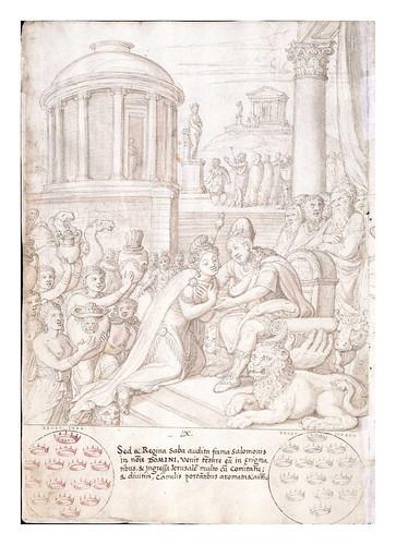 009- La reina de Saba visita a Salomon-De Aetatibus Mundi Imagines