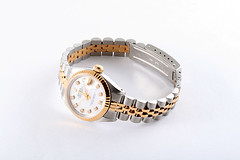 Rolex Ladies 2 Tone Datejust White Pearl Dial (timeandgems) Tags: rolexwatch diamondwatch rolexdatejust
