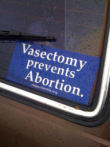 vasectomy prevents abortion