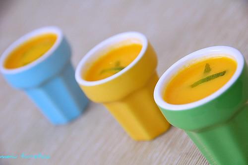 zuppa carote e agrumi