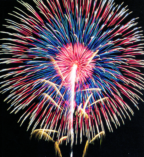 Very cool starburst firework shell with multi coloured effect - Epic Fireworks