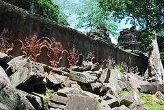 DSC_0627 (ASR Photos) Tags: tree tower abandoned stone temple mural ruins cambodia khmer buddhist roots buddhism jungle siem reap damage khan angkor wat buddah rubble preah overrun