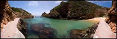 Paradise Panorama (Filipe Batista) Tags: light sea luz praia beach portugal clouds canon boat mar barco wide wideangle panoramica ceu peniche nvens grandeangular berlenga efs1022 40d