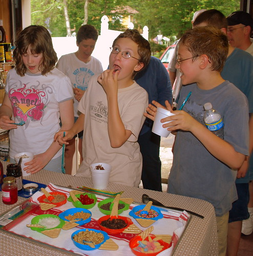 Ice Cream Sundae bar kids