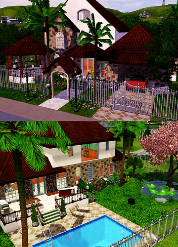 Sims 3 Houses. First Sims 3 House