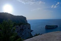 Putting Sun from the tower (ibzsierra) Tags: sunset sea sky sun sol canon atardecer mar ibiza cielo puestadesol eivissa ocaso 400d yourcountry