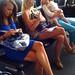 Women, an airport scene