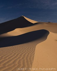 Dunes in Morning Light, Death Valley.  March 17, 2010 (Robert Pearce Photography) Tags: california light shadow landscape march nationalpark sand desert dunes deathvalley 2010 nikond200 robertpearce robertpearcephotography