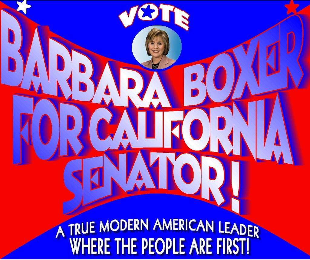 Barbara Boxer For Senator!