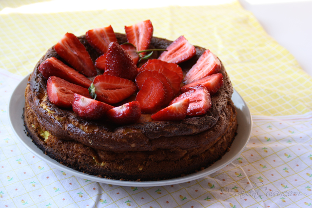 Ricotta and Strawberry Cheesecake