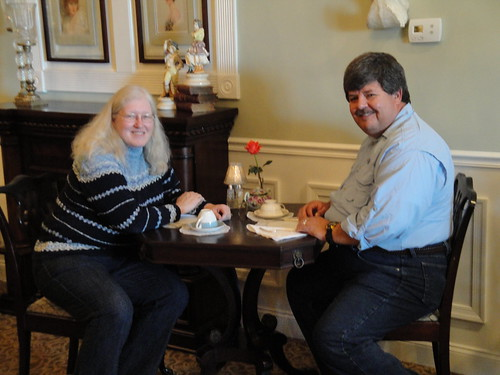Denise and Rob at the British Tea House in Bear, DE