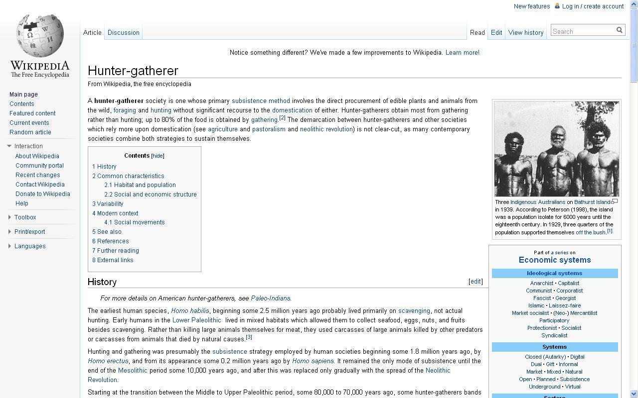 wiki hunter gatherer