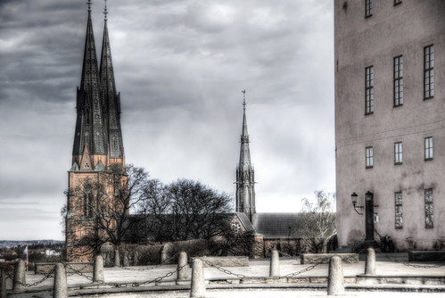 Uppsala. Catedral desde el castillo