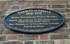 Photo of Charles De Gaulle black plaque