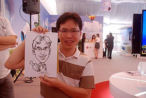 caricature live sketching for LG Infinia Roadshow - day 1 - 5
