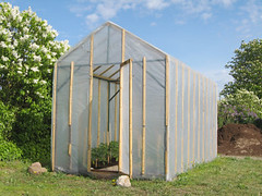 Building a Homemade Plastic Wood Framed Greenhouse