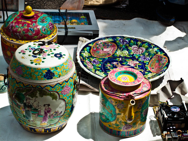 IMG_0632 china,flea market , Penang , 槟城跳蚤市场,瓷器